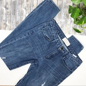 RACHEL ROY Distressed Skinny Jeans